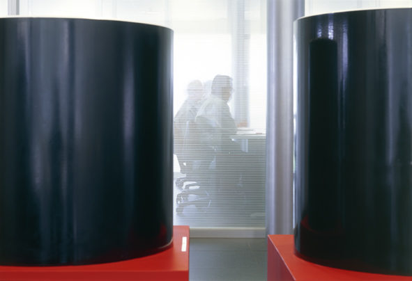 Products Exhibition at the Office Building Entrance Hall, Pindamonhagaba, Brazil